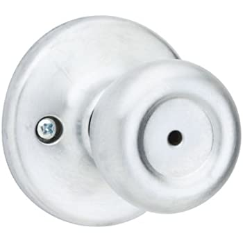 Kwikset 93001-361 Tylo Privacy Bed/Bath Knob in Satin Chrome