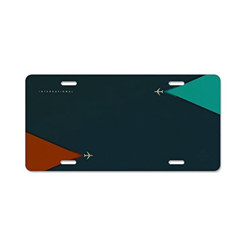 Aircraft Triangular Color Metal License Plate for Car, Metal Car License Plate, Car Tag 6