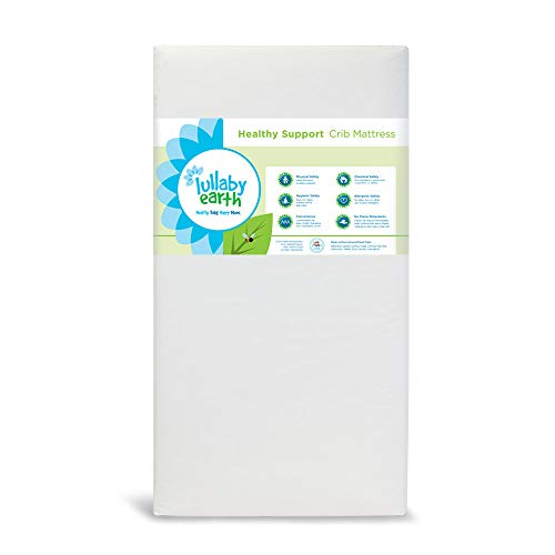 Sale!! Lullaby Earth Non-Toxic Crib Mattress – Waterproof – Fits Standard Baby and Toddler Bed, White