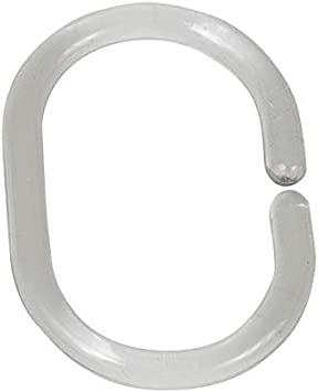 3 x 4.5 x 0.1 cm Oval WENKO Shower Curtain Rings Small-Set of 12