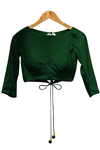 Women's Party Wear Readymade Bollywood Designer Indian Style Padded Blouse for Saree Crop Top Choli (Indian Sarees Blouse)