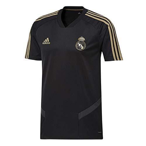 adidas 2019-2020 Real Madrid Training Football Soccer T-Shirt Jersey (Black) - Kids (Black Real Madrid Jersey Xxl)