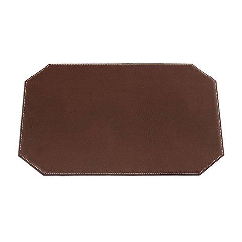 Brown Leatherette Cut Corner Placemat 17″ X 12″