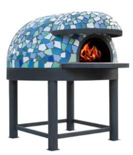 Horno para pizzería de leña capacidad producción 2/3 pizzas diámetro interior 80 cm
