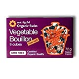 Marigold Health Foods Org Veg Bouillon Reduced Salt (8 Cubes) Bulk Pack Of 12