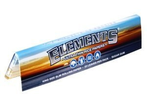 - Elements King Size Slim Rice Rolling Papers - 5 Pack