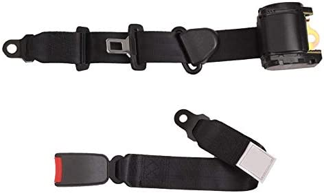 DeemoShop Universal Car Van Truck Seat Lap Belt Two Point Adjustable Safety Buckle 2 Point