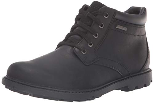 Rockport Men's RGD BUC WP Boot, Black Waterproof, 6.5 W