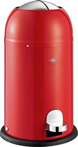 (Wesco Kickmaster Junior - German Designed - Step Trash Can, Powder Coated Steel, 4 Gallon / 15 L, )