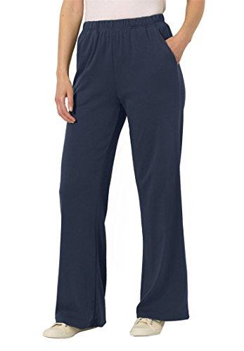 (Woman Within Women's Plus Size 7-Day Knit Wide Leg Pant - Navy, 6X)