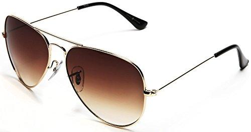 Samba Shades Unisex Classic Aviator Sunglasses Brown - Glen & Ivy Sky - Shades Aviator