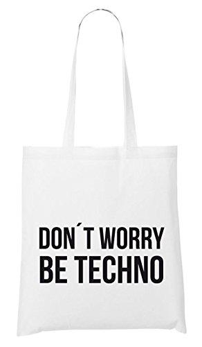 Non Ti Preoccupare Essere Techno Bag Bianco Maniaco Certificato