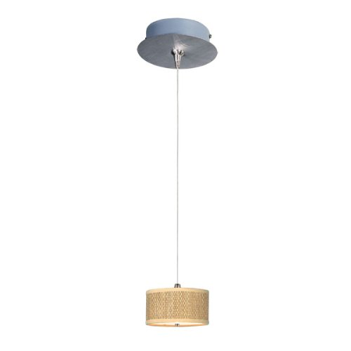 ET2 E95490-101SN Elements 1-Light RapidJack Pendant and Canopy Mini Pendant, Satin Nickel Finish, Glass, 12V GY6.35 T4 Xenon Bulb, 2.9W Max., Dry Safety Rated, 2900K Color Temp., Standard Dimmable, Shade Material, 1500 Rated Lumens