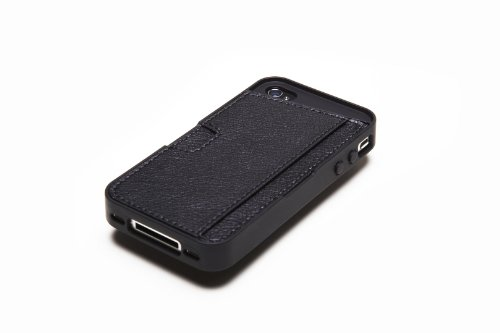 Silk iPhone 4/4S Wallet Case - Q CARD CASE [Slim Protective CM4 Cover] - Black Onyx by Silk (Image #2)