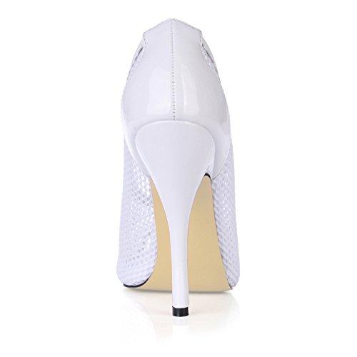 talon grandes Black goût nouveau de les mailles astuce haut blanc poisson femmes chaussures célibataires femmes Les chaussures qTn68F
