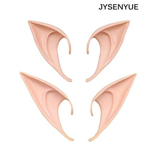 (JAYSLE 2 Pairs Elves Ears Halloween Cosplay Party Demon Monster)