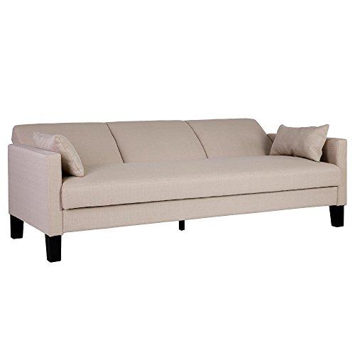 DHP Vienna Sofa Sleeper with 2 Pillows - Chocolate Brown and Tan