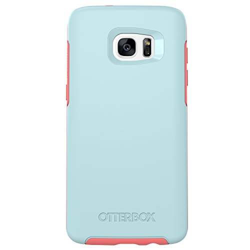 OtterBox Symmetry Series Case for Samsung Galaxy S7 Edge,  Boardwalk (Bahama Blue/Candy Pink)  - Frustration-Free Packaging