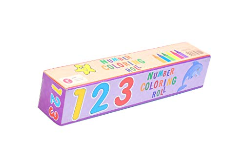 Ki&Er 1-10 Coloring Roll 15 Foot Party Group Activities with Crayons Sticker Coloring Paper to Use on Walls