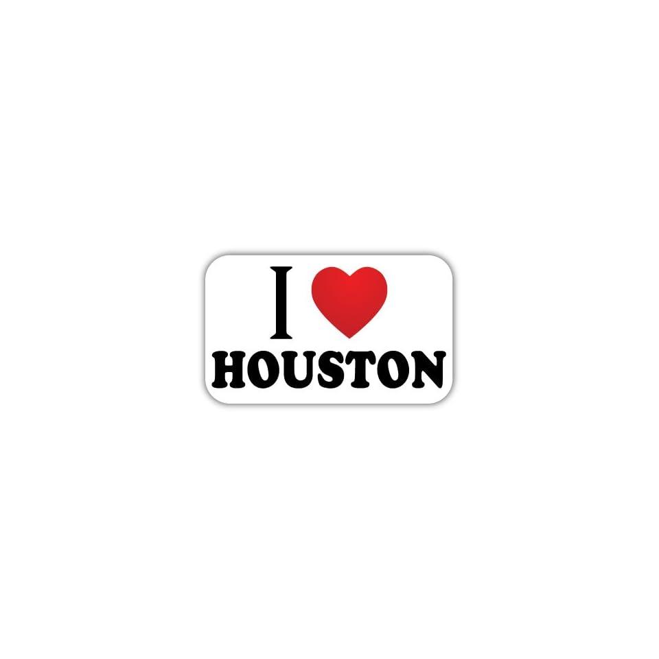 I Love HOUSTON Car Bumper Sticker Decal 5 X 3