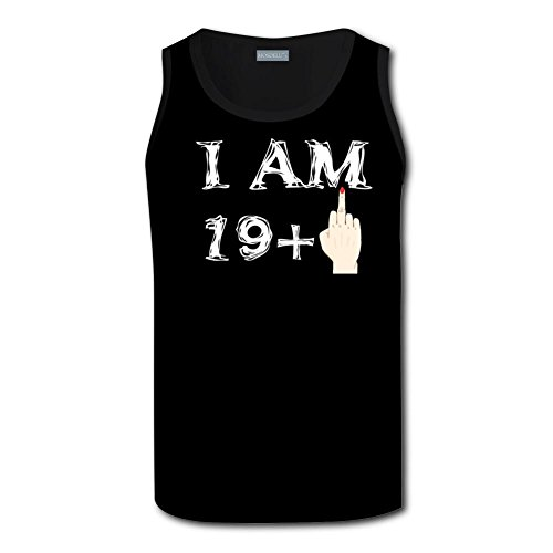 I Am 19 + 1 = 20 Years Old Birthday Men Tanks Top Gym Work Out Suitable for Exercise