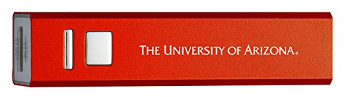 University Of Arizona   Portable Cell Phone 2600 Mah Power Bank Charger   Red