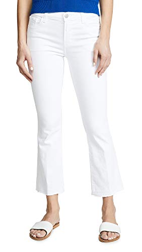 J And Company Bootcut Jeans - J Brand Jeans Women's Selena Mid-Rise Cropped Bootcut Jean, Blanc, 29