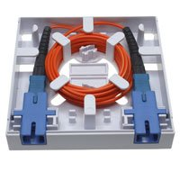 1 Port FTTH Fiber Termination Box, Wall Mount - Distributed by NAC Wire and Cables