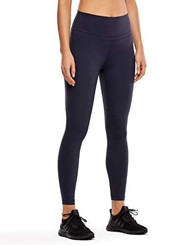 CRZ YOGA Women's Naked Feeling I High Waist Tight Yoga Pants Workout Leggings-25 Inches Navy 25'' - R009 L