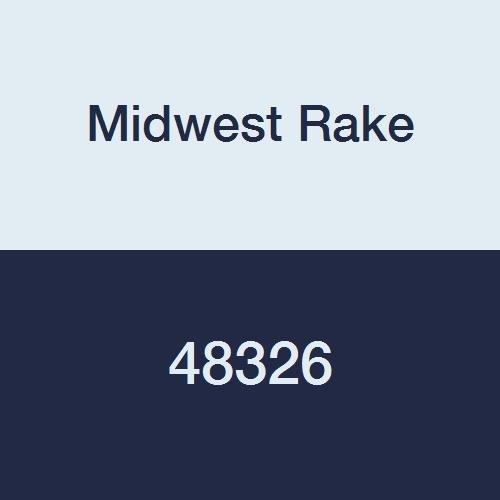 Midwest Rake 48326 6'' Aluminum Ribbed Roller, 2'' Diameter, Wood Handle