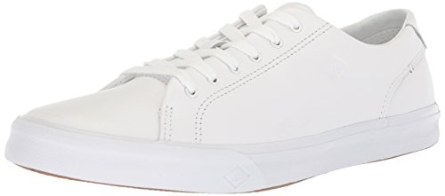 Sperry Top-sider Mens Striper Ii Ltt Sneaker In Pelle Bianca