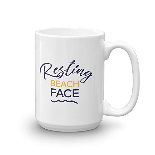 - Below Deck Resting Beach Face White Mug - 15 oz. - Official Coffee Mug