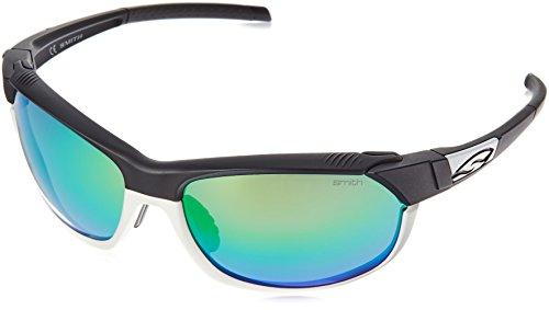 Smith Optics PivLock Overdrive Sunglasses, Matte Black White Frame, Green Sol-X/Ignitor/Clear ()
