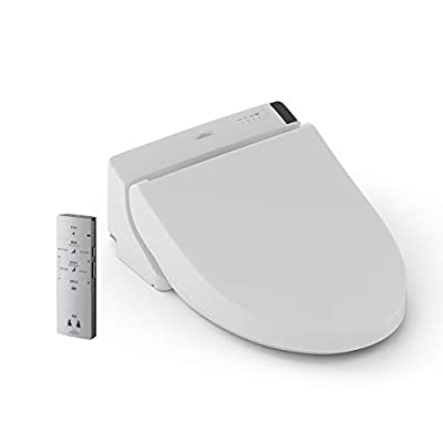 TOTO SW2043R#01 WASHLET C200 Electronic Bidet Toilet Seat with PREMIST and SoftClose Lid, Round, Cotton White