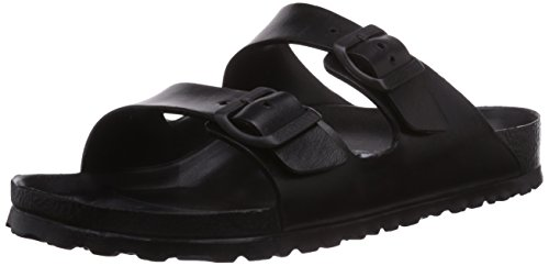 Birkenstock Men's Arizona EVA Slide Sandals, Black Synthetic, 42 M EU, 9-9.5 M 129421