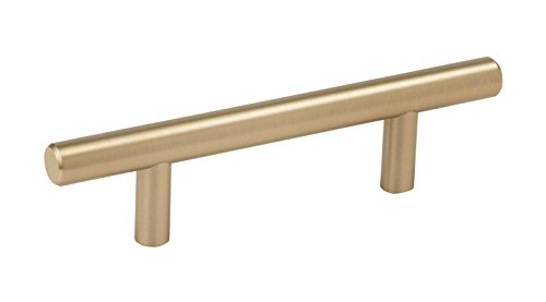 Amerock BP40515BBZ Bar Cabinet Pull, 3 in (76 mm) Center-to-Center, Golden Champagne