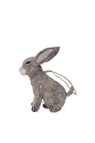 De Kulture Handmade Felt Easter Hanging Bunny I Rabbit Decorative (2.5x3x6) LWH for Easter Decoration Home Decoration Party Decoration (Grey)