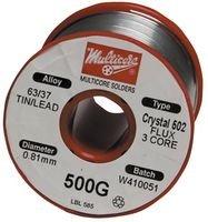 MULTICORE (SOLDER)) MM00975 SOLDER WIRE, 63/37 SN/PB, - Core Solder Multi