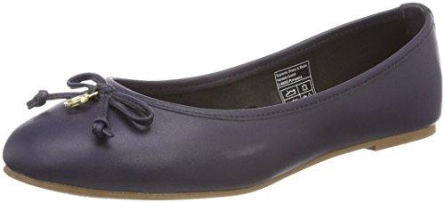 TOM TAILOR Damen 4894301 Geschlossene Ballerinas Blau (Navy)