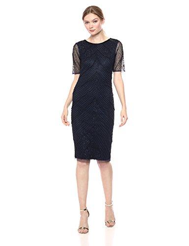 Marineblau Kleid Damen Schwarz AP1E203630 besondere Anlässe für Adrianna Papell qZpvwZ4