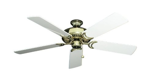 Riviera Traditional Ceiling Fan - Riviera II Traditional Ceiling Fan in Bright Brass with 52