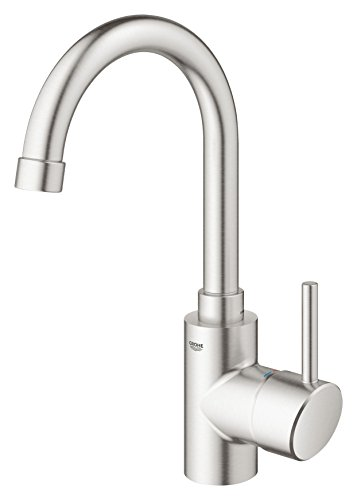 GROHE 31518DC0 Concetto Single-Handle Kitchen Faucet, 1.5 GPM, SuperSteel InfinityFinish