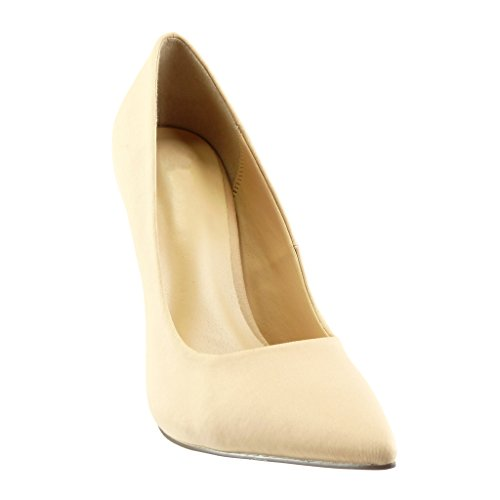 Chaussure 5 Beige Aiguille CM 12 Angkorly Chic Sexy Escarpin Talon Mode Haut Stiletto Femme 1OqZPdw