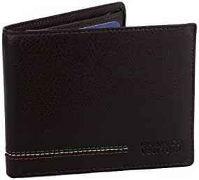 Wallet man GIANMARCO VENTURI moro in leather portacredit cards with flap A5713