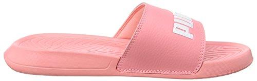 Puma Unisex-Erwachsene Popcat Hausschuh Pink (Soft Fluo Peach-Puma White)