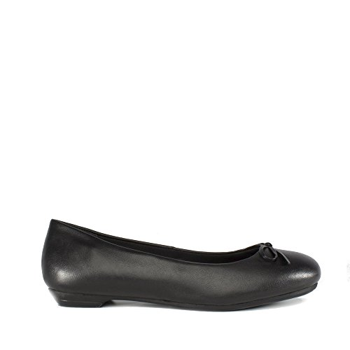 Shoes Ladies Black Plus Ballerina Comfort Leather Black Angela RYnXAxxqdE