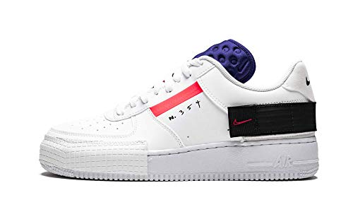 Nike Air Force 1 Low Type (Summit White/Red Orbit-White B 10.5) (Nike Air Force 1 Low Gym Red White)