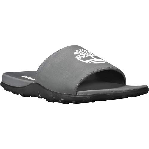 (Timberland Fells Slide Sandal Men | Grey (9-Men))