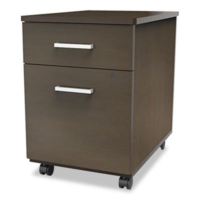 Trento Line Mobile Pedestal File, Box/File Drawer, Mocha, Sold as 1 Each