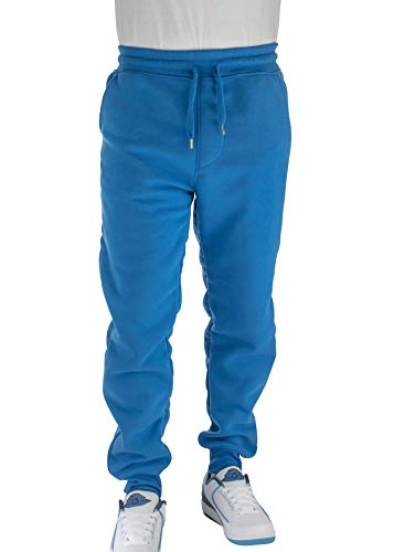 Blue Team Fleece Sweatpants - Vertical Sport Men's Active Basic Jogger Fleece Pants Light Weight Athletic fit JG2 (XXLarge, Royal)